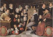 VEEN, Otto van Surrounded by His Household (mk05) oil painting